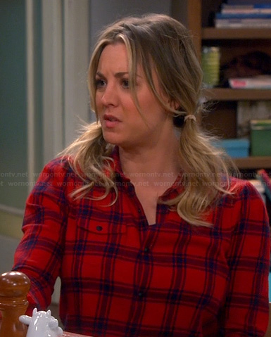 Penny's red checkered shirt on The Big Bang Theory