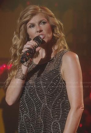 Rayna's beaded overlay top on Nashville