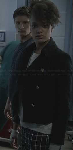 Remy's black jacket with gold buttons on Ravenswood