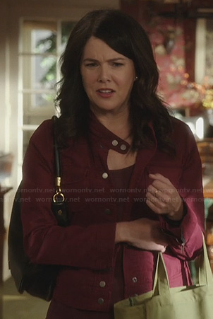 Sarah's red denim jacket on Parenthood