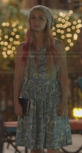 Scarlett's blue floral dress on Nashville