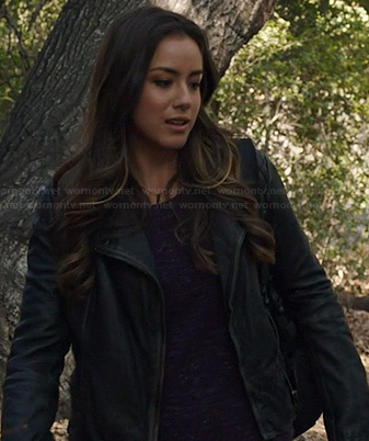 Skye's leather jacket on Agents of SHIELD