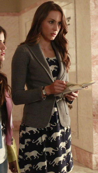 Spencer's navy blue panther dress on PLL