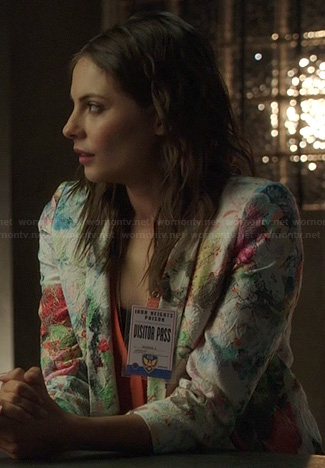 Thea's floral blazer on Arrow