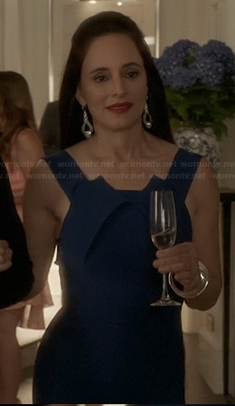 Victoria's blue fold-detail dress on Revenge