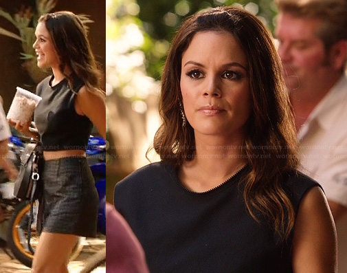 Zoe's black crop top on Hart of Dixie