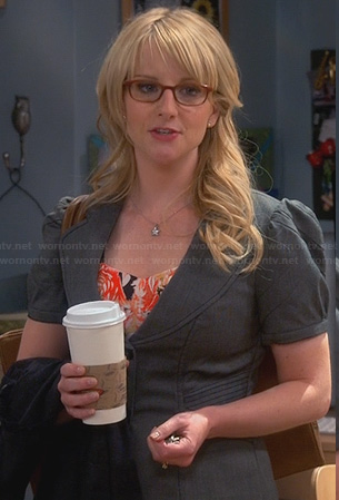 Bernadette's grey short sleeved blazer on The Big Bang Theory