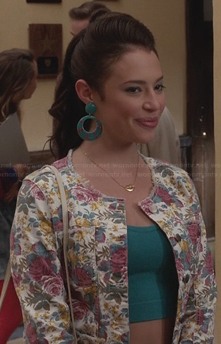 Donna's floral denim jacket on The Carrie Diaries