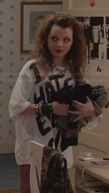 Dorrit's I Hate Every One Tee on The Carrie Diaries