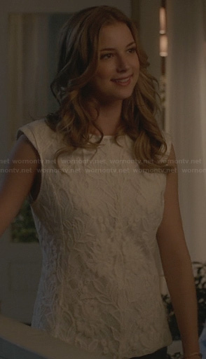 Emily's white lace top on Revenge