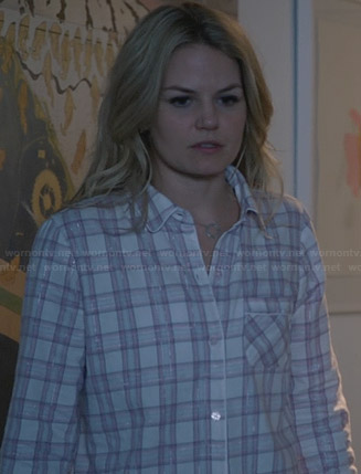 Emma's plaid pajamas on Once Upon a Time