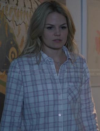 Emma's plaid pajamas on Once Upon a Time