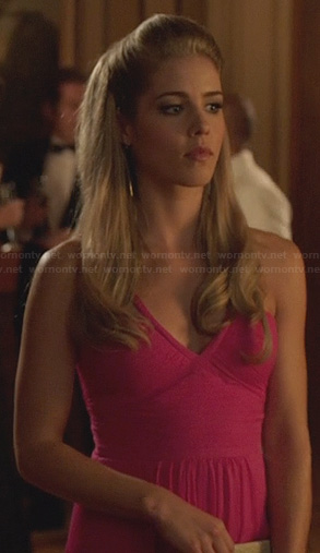 Felicity's pink gown on Arrow