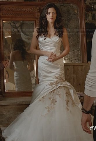 Freya's bridal gown on Witches of East End