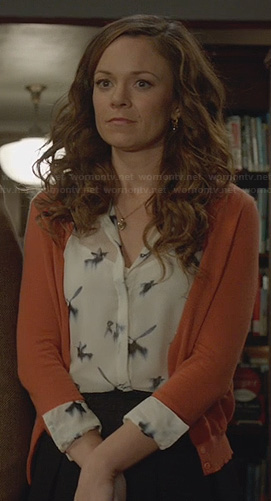 Ingrids bird print blouse on Witches of East End