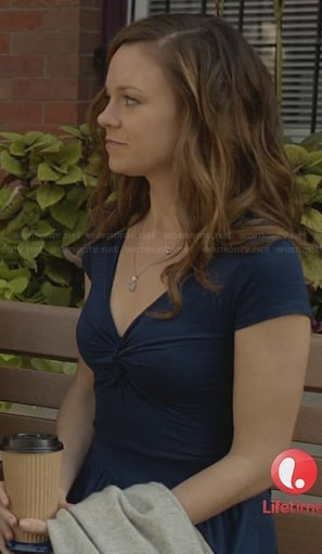 Ingrids blue twist front dress on Witches of East End