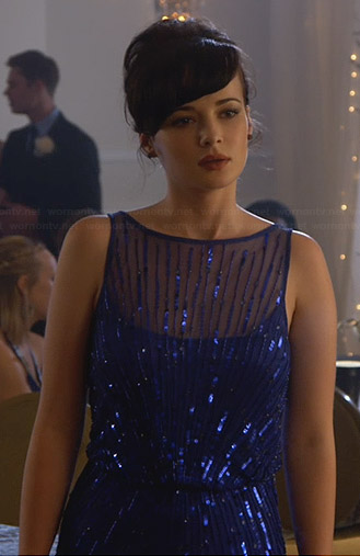 Jenna's blue prom dress on Awkward