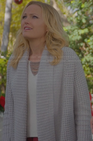 Kate's grey waffle cardigan on Trophy Wife