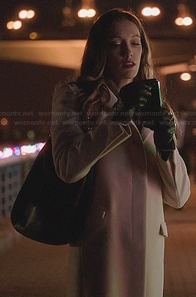 Laurel's white coat on Arrow