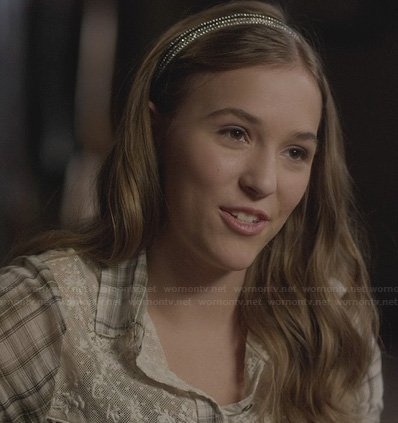 Maddie's plaid and lace shirt on Nashville