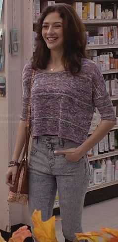 Maggie's high waisted jeans on The Carrie Diaries