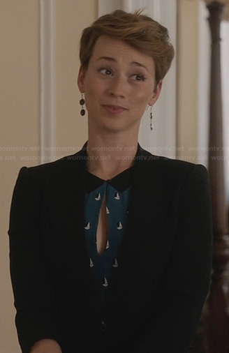 Margaux's blue sail boat dress on Revenge