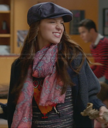Marley's owl sweater and paisley scarf on Glee