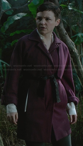 Mary's purple coat on Once Upon a Time