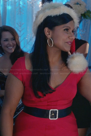 Mindy's red bandage dress on The Mindy Project