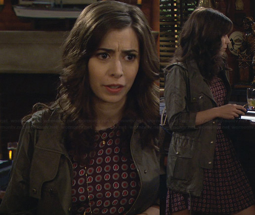 The Mother's red floral dress on HIMYM