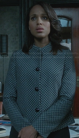 Olivia's checkerboard jacket on Scandal