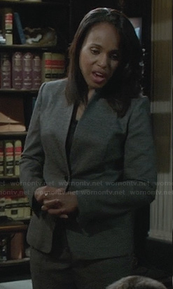 Olivia's grey blazer on Scandal