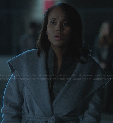 Olivia's grey shawl coat on Scandal