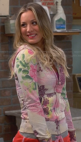 Penny's floral hoodie on The Big Bang Theory