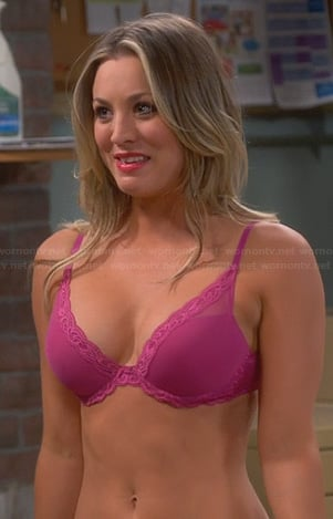 Penny's pink bra on The Big Bang Theory