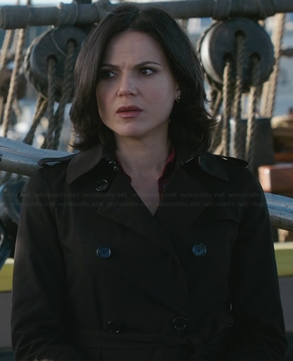 Regina's black trench coat on OUAT
