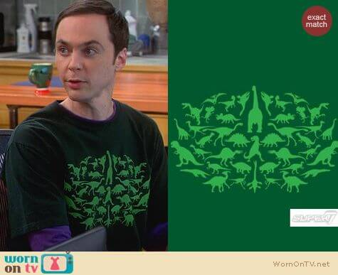 Sheldon's Shirts: Super 7 Prehistoric Monsters Tshirt worn by Jim Parsons