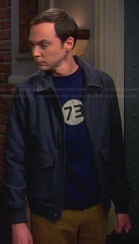 Sheldon's blue 73 tee on The Big Bang Theory