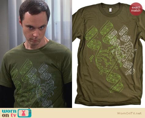 Sheldon's Shirts Babble Tees DNA Graphic Shirt