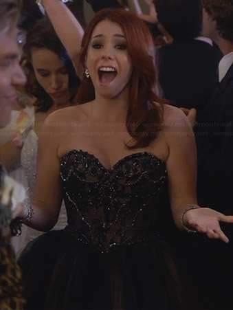 Tamara's black strapless prom dress on Awkward