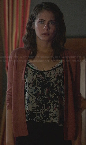 Thea's abstract graphic top on Arrow