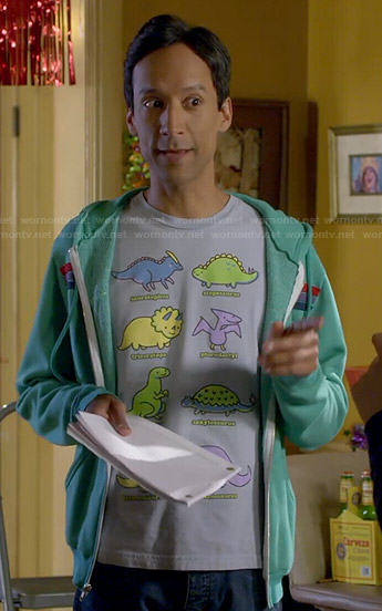 Abed's dinosaur t-shirt on Community