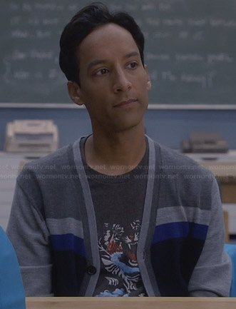 Abed's grey tiger shirt on Community