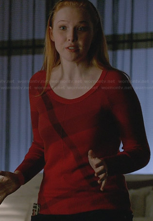 Alexis's red check sweater on Castle