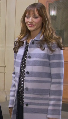 Ann's grey striped coat on Parks and Recreation