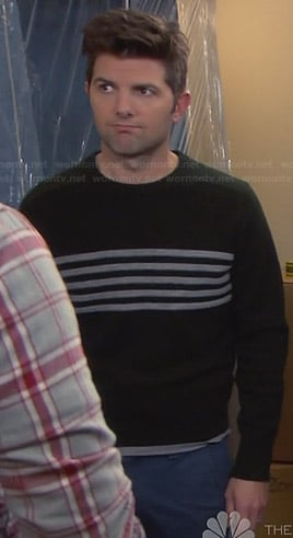 Ben's green striped sweater on Parks & Rec