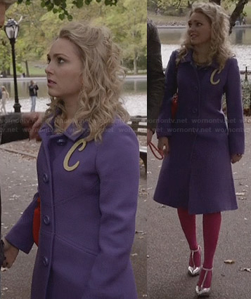 Carrie's purple coat on The Carrie Diaries