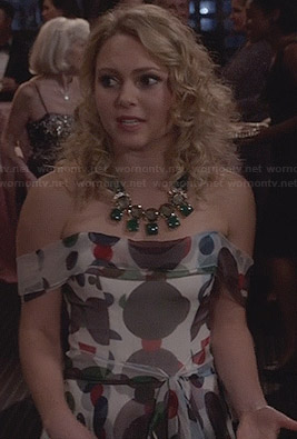 Carrie's polka dot gown on The Carrie Diaries