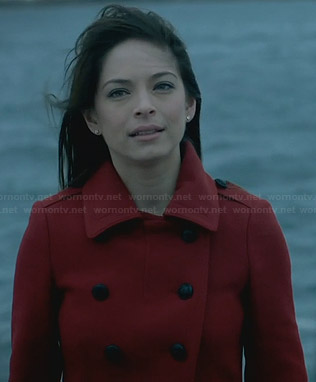 Cat's red pea coat on BATB