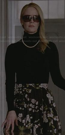 Wornontv Cordelia S Black Floral Skirt On American Horror
